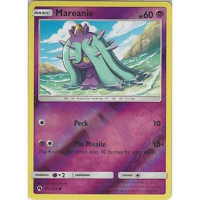 - NM Mareanie 105//214 Common Reverse Holo Pokemon Card 2018 Lost Thunder