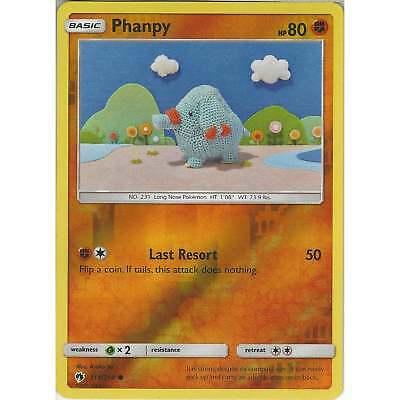 111//214 Pokemon: Phanpy Reverse Holo Lost Thunder Common