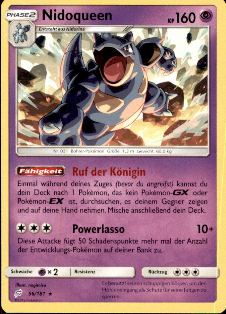 Pokemon 56/181 Nidoqueen - Teams sind Trumpf - Deutsch - Image 1