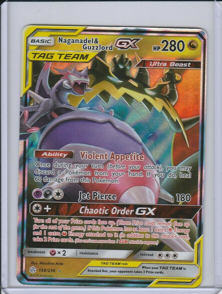 1x Naganadel /& Guzzlord Tag Team GX 158//236 Ultra Rare NM Pokemon Cosmic E