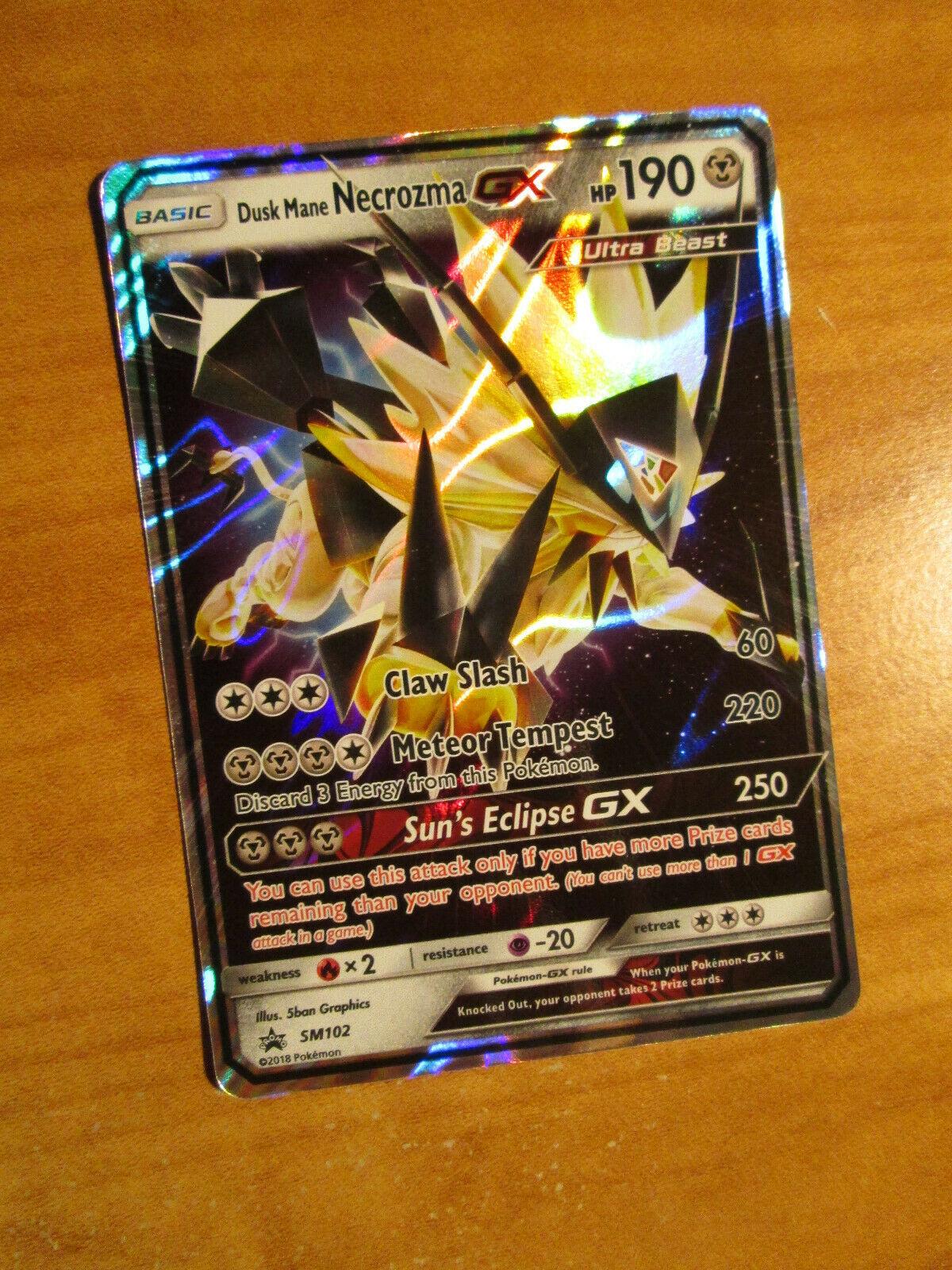 Dusk Mane Necrozma GX Ultra Rare NM Promo SM102 Pokemon TCG