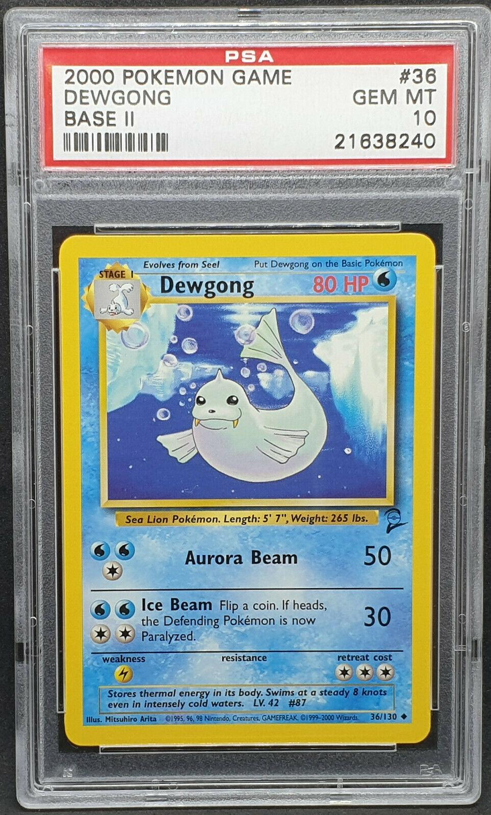 DEWGONG 36//130 Base Set 2 ENGLISH 1999-2000 Pokemon NEAR MINT Condition
