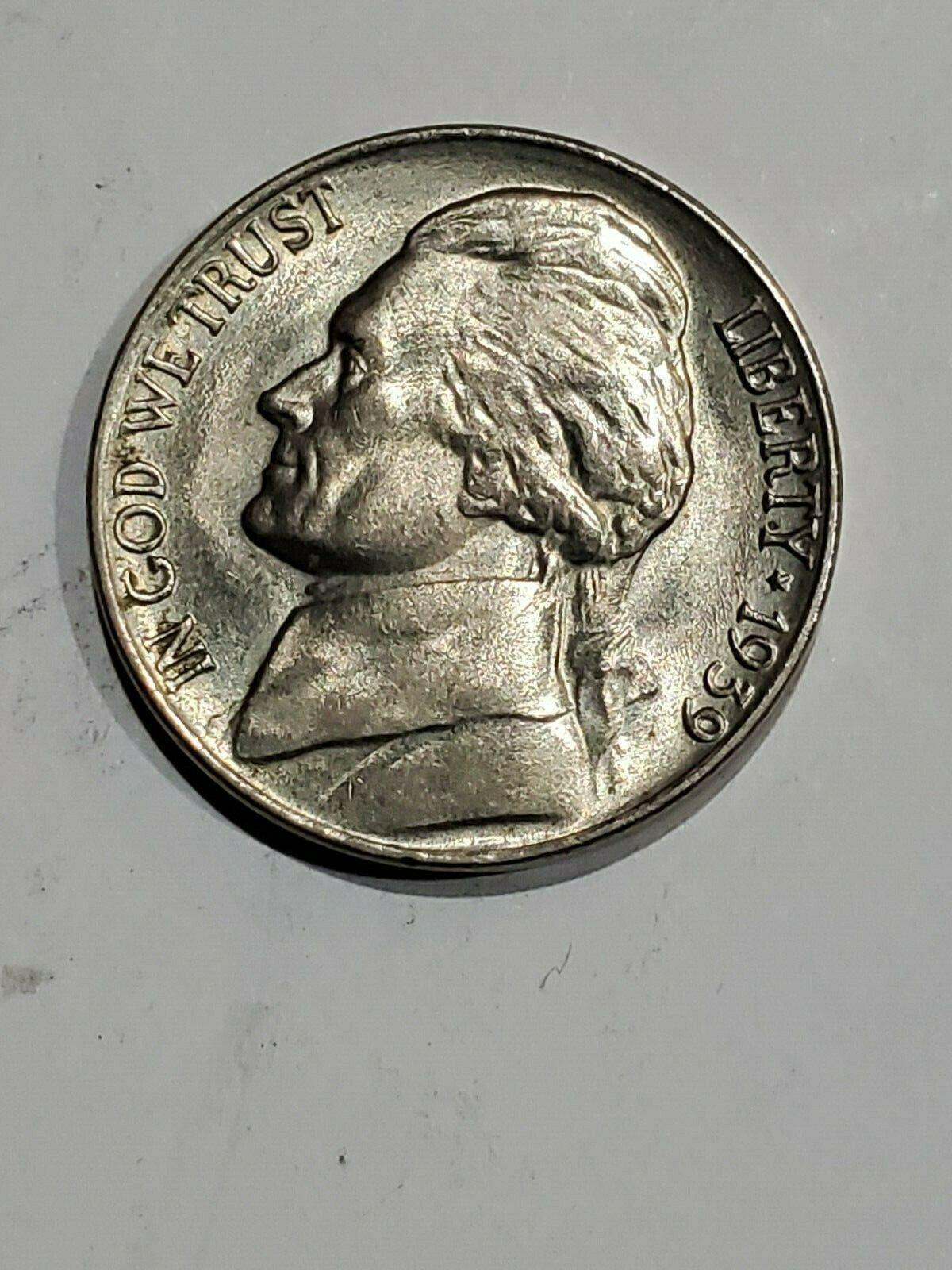 Key Date 1939-D Jefferson Nickel in the FINE  Range  DUTCH AUCTION