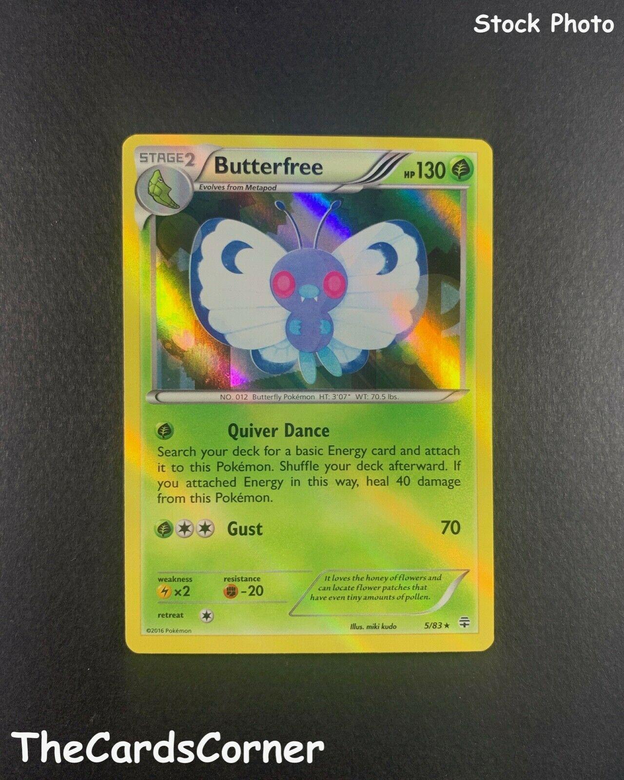 Generations 5//83 Butterfree Reverse Holo Mint Pokemon Card