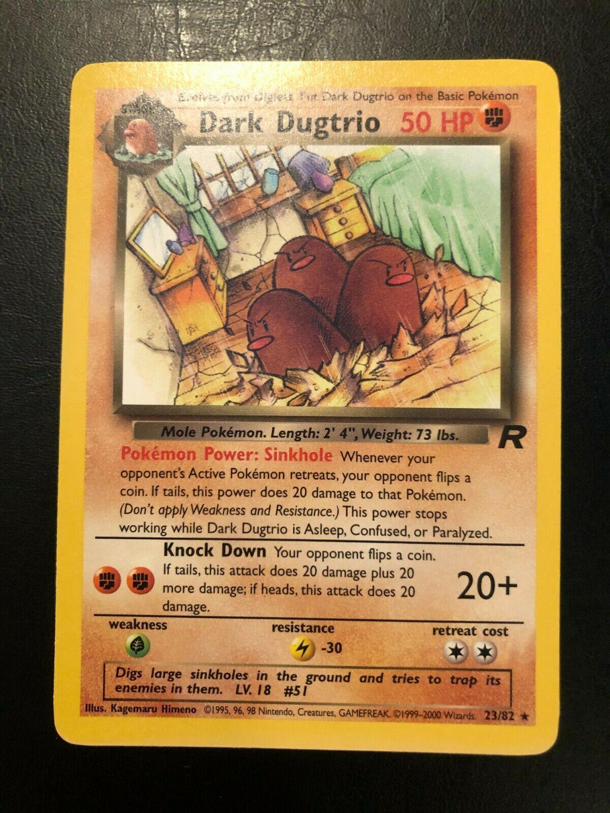 Dark Dugtrio 23//82 Team Rocket Set RARE Pokemon Card EXCELLENT