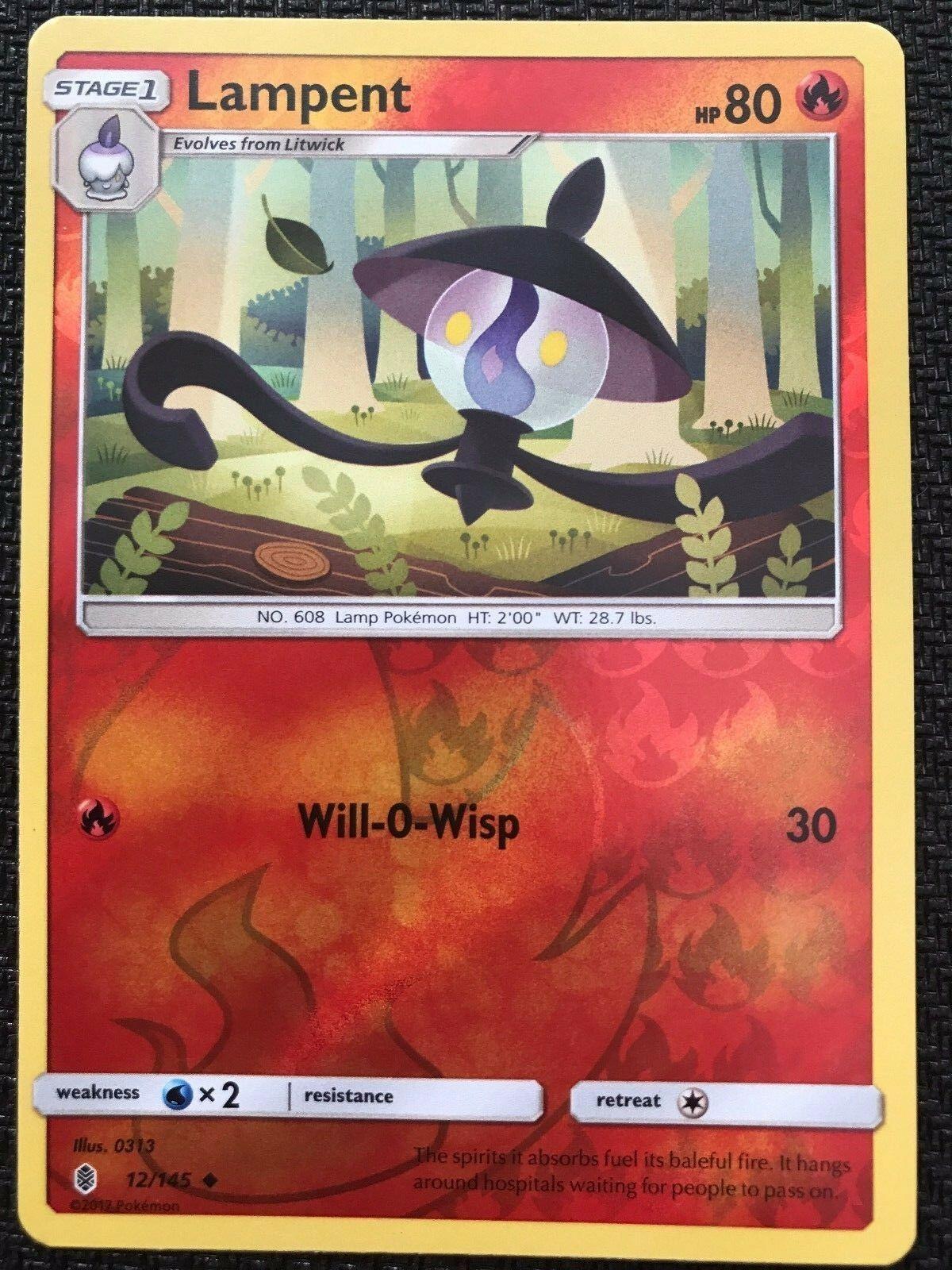 11//145 Reverse Holo Pokemon SM2 Guardians Rising M//NM Common x4 Litwick