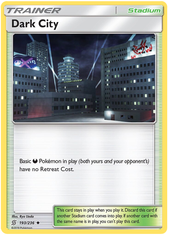 Dark City 4X Pokemon TCG Online PTCGO 193//236 DIGITAL CARD FAST