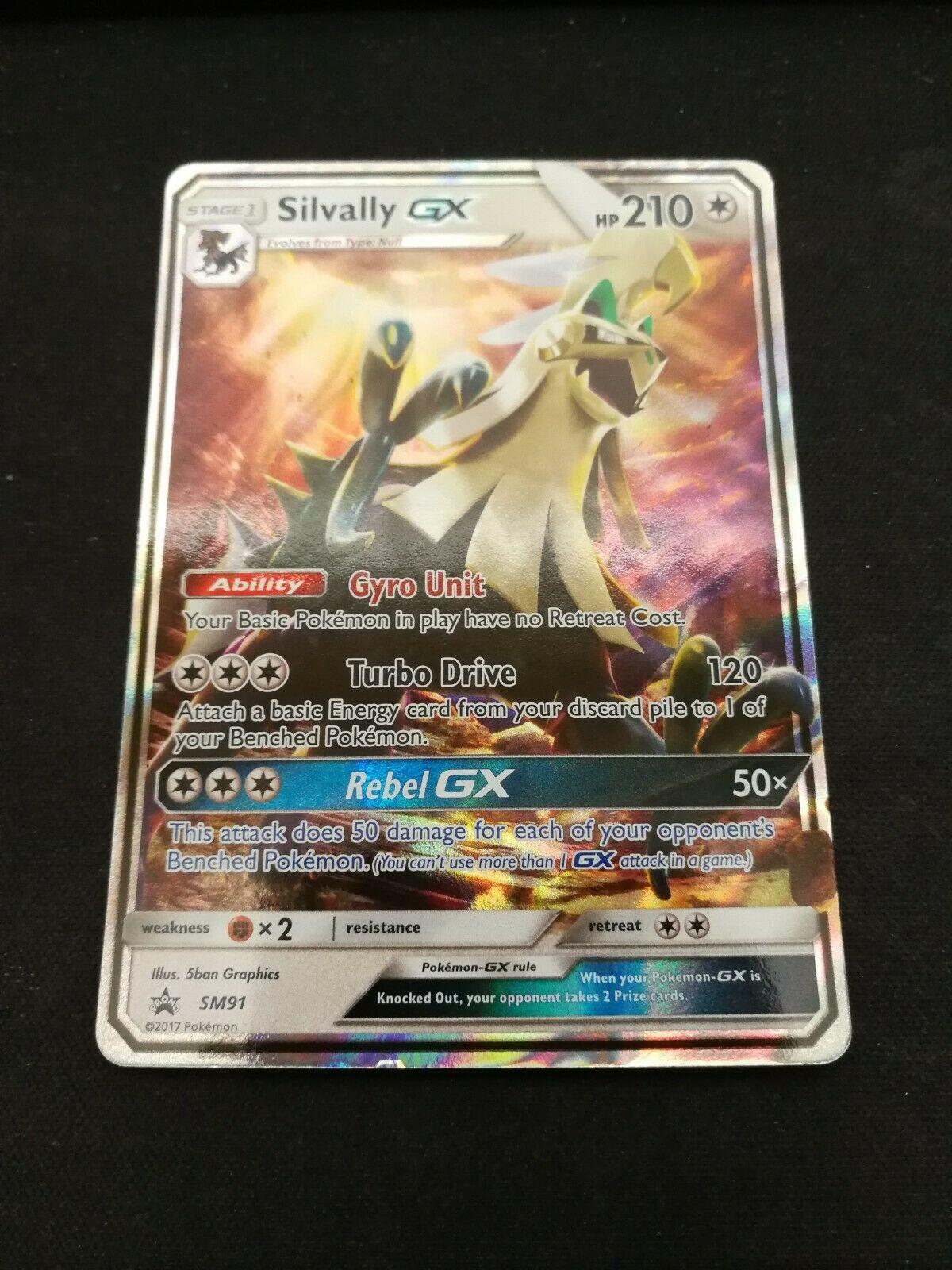 Holo Silvally GX SM91 Sun /& Moon Black Star Promo