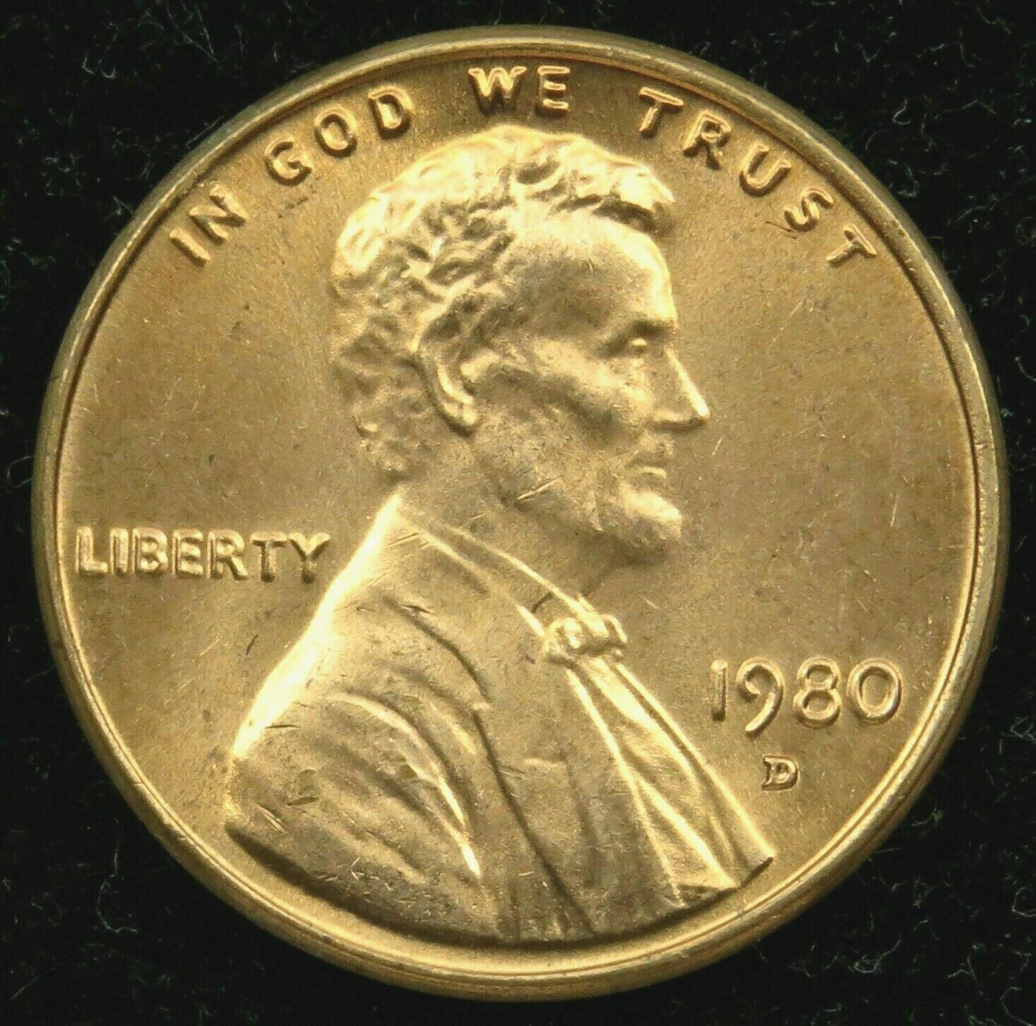 1980 P D S lincoln Cent In Cello from mint sets DCAM PROOF from PROOFSet