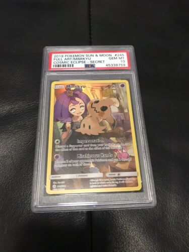 Mimikyu Pokemon Full Art Secret Rare 245//236 Cosmic Eclipse