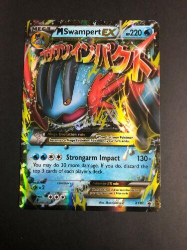 Swampert Mega EX Card XY87 Matt Gold Card with Box Free 1 EX card
