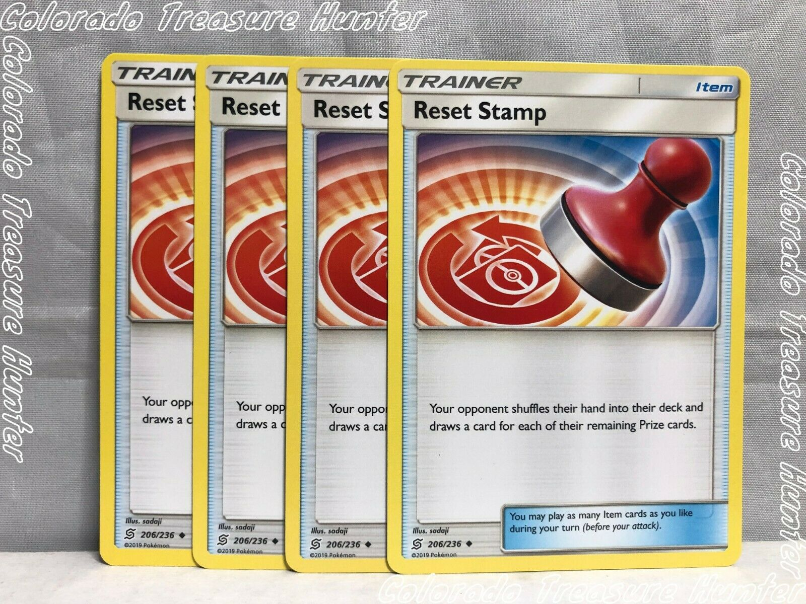 Uncommon Pokemon Card Unified Minds Set - NM Reset Stamp 206//236 2019