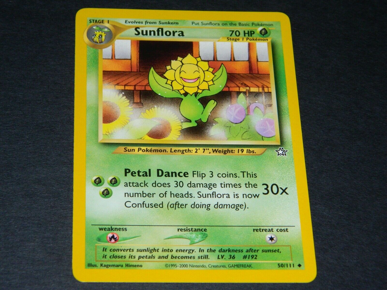 Sunflora 50//111 Neo Genesis Pokemon Card