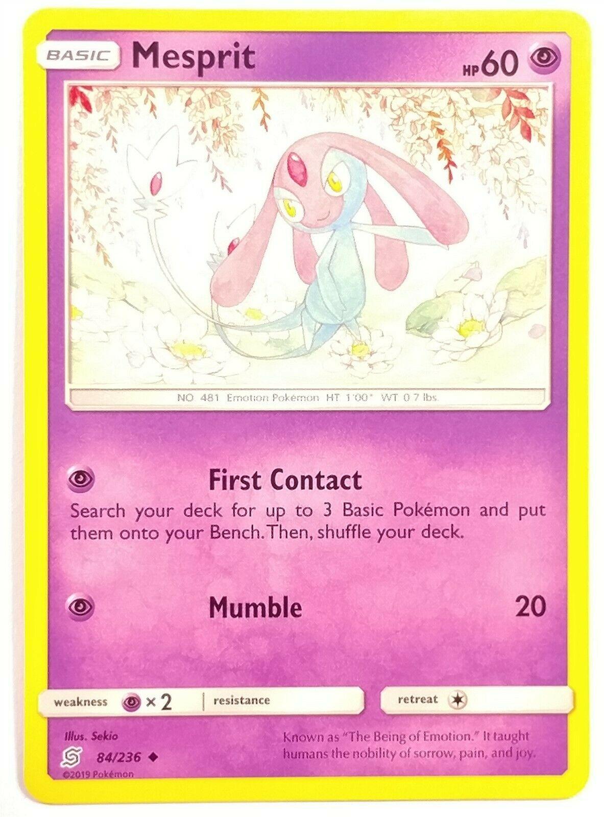 Azelf 85//236 Unified Minds Set Uncommon Pokemon Card - NM 2019