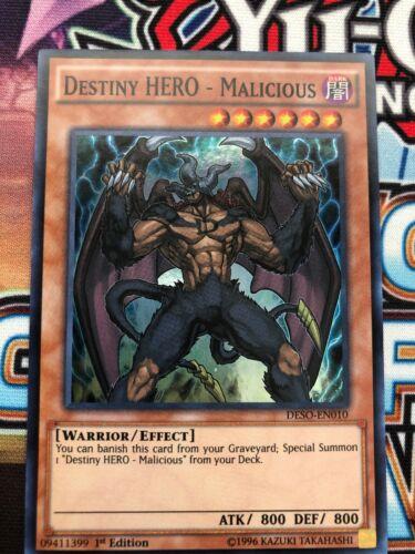 YUGIOH RYMP-EN034-1ST//UNLIMITED SECRET RARE NM//M MALICIOUS DESTINY HERO