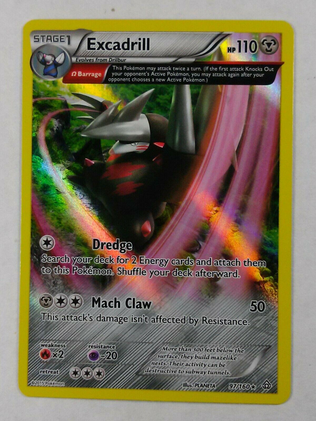 Excadrill 97/160  X&Y: Primal Clash  Rare Holo  NM/Mint  Pokemon