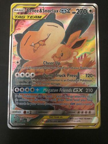 Pokemon Eevee /& Snorlax GX Tag Team Alt Full Art SM169 NM MUST HAVE!
