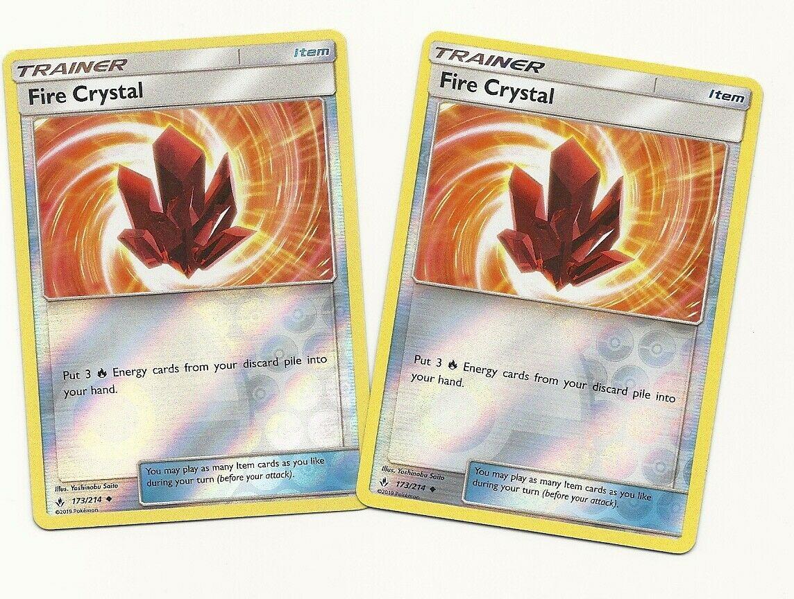 Mint 4 X Fire Crystal 173//214 SM Unbroken Bonds Pokemon Cards Playset