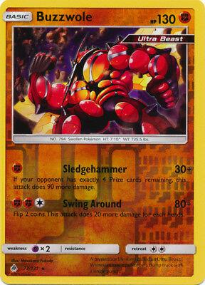 x1 Buzzwole - 77/131 - Rare - Reverse Holo Pokemon SM6 Forbidden Light M/NM - Image 1