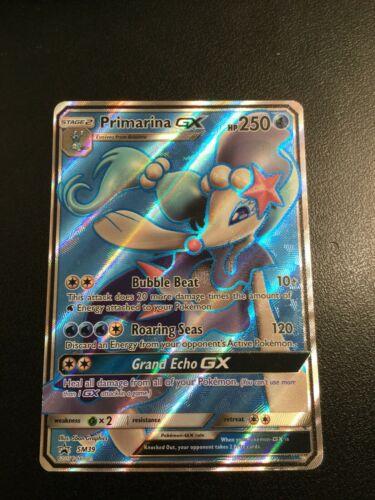 FULL ART Primarina GX SM39 SM Black Star Promo HOLO Pokemon Card NEAR MINT