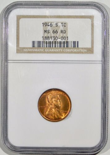 1942-S Lincoln Cent MS66RD NGC 66 Red Mint State