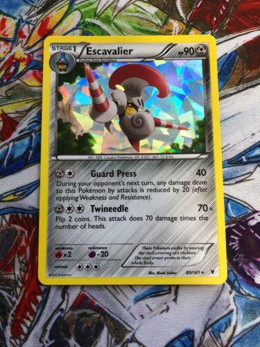 Rare Pokemon Card Escavalier REV HOLO 80//101 BW Noble Victories