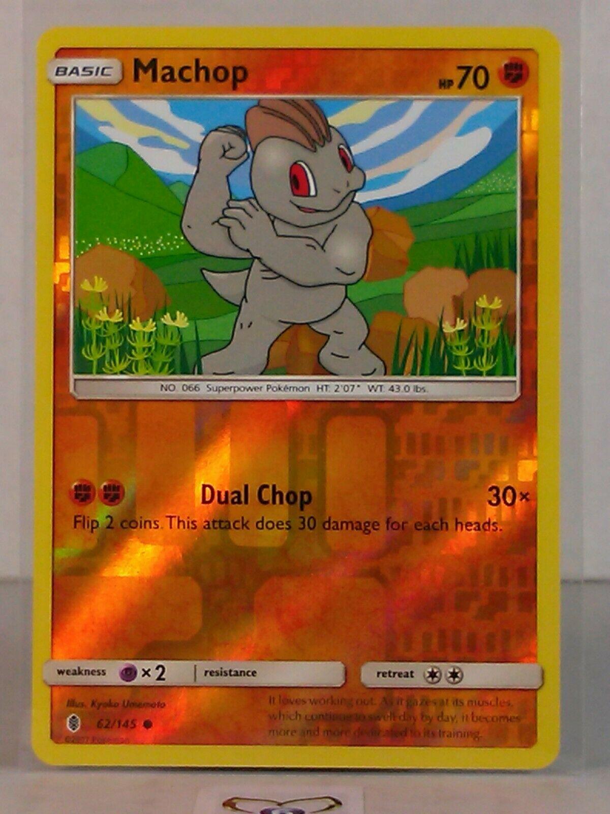MACHOP 62//145 MACHOKE 64//145 in Italiano POKEMON Sole Luna Guardiani Nascenti