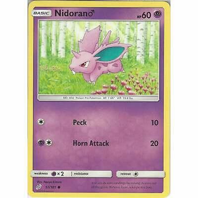 Sun /& Moon: Team Up 57//181 Common Pokemon: Nidoran Male