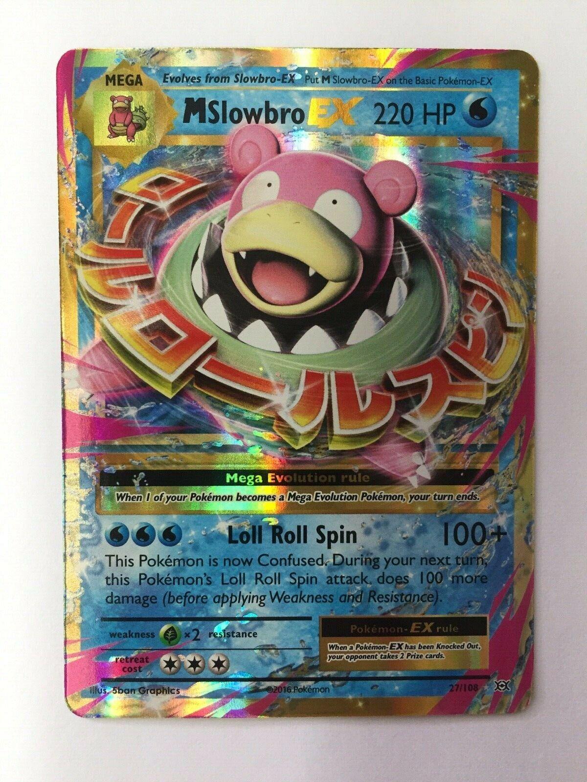 Pokemon XY Evolutions Slowbro-EX 26//108  Holo Rare ex Card