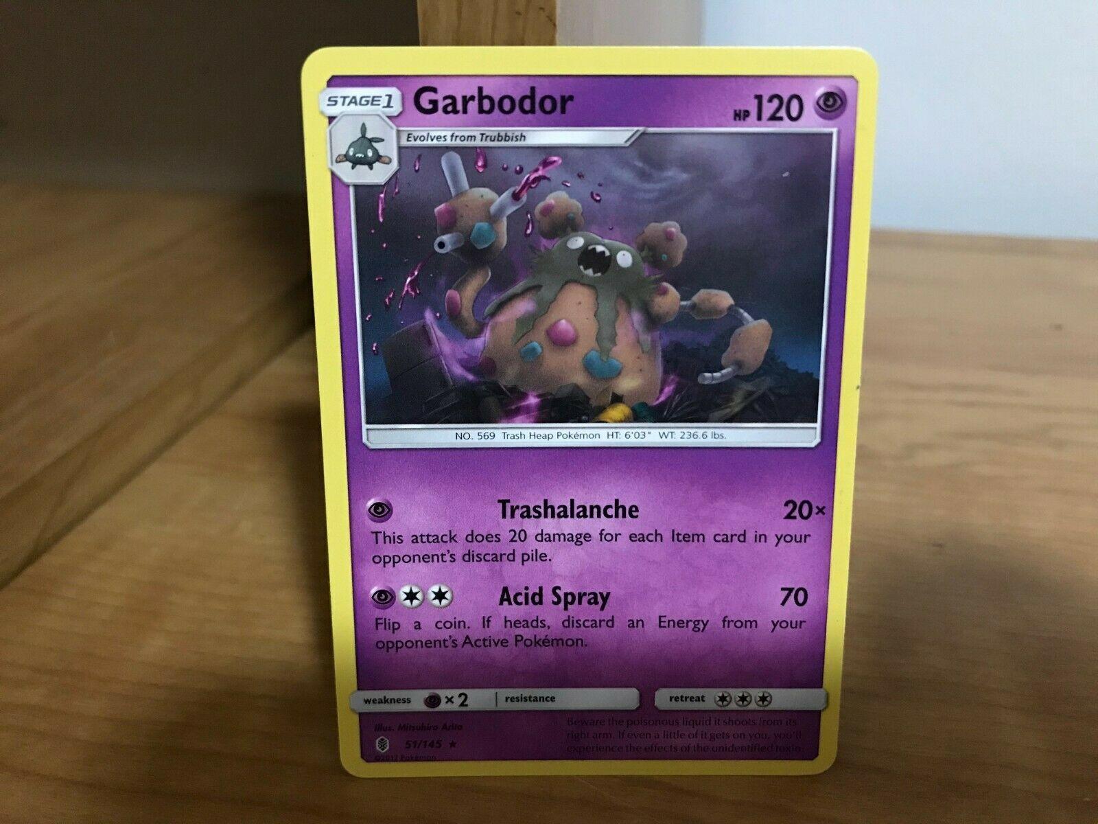 Rare Playset Pokemon SM Guardians Rising 51//145 4x Garbodor NM//M
