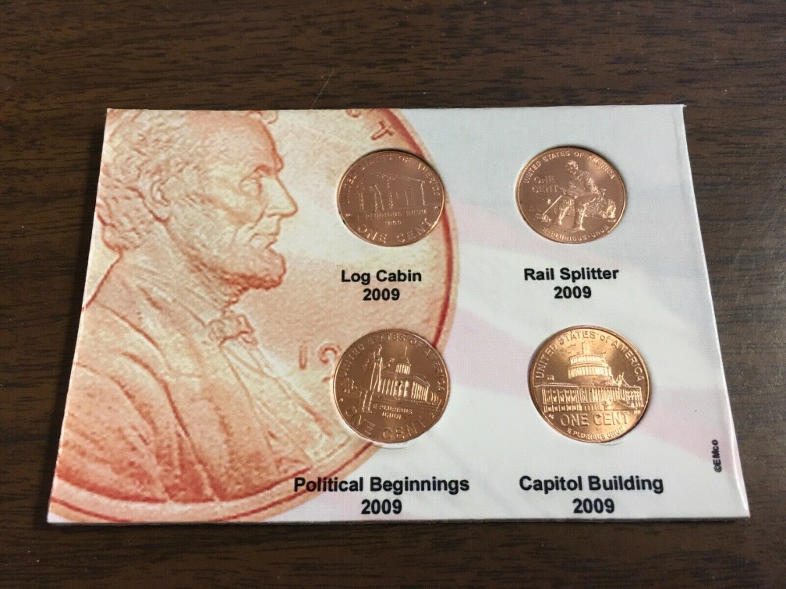 2009-D Capitol Uncirculated Lincoln Cent Rolls