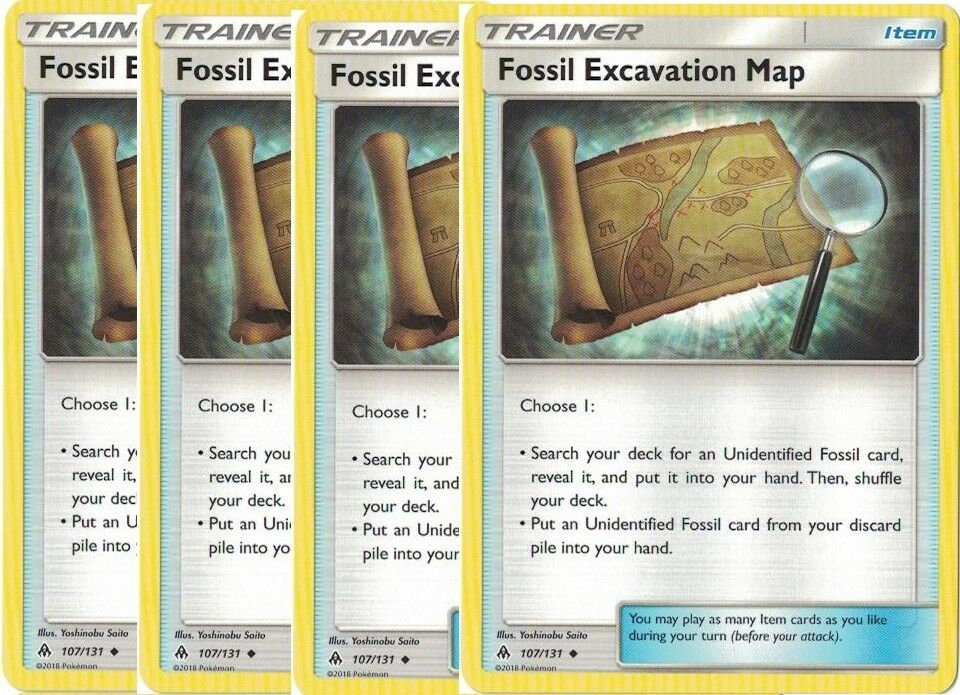 Fossil Excavation Map  107//131 S/&M Forbidden Light  Uncommon  Mint//NM  Pokemon
