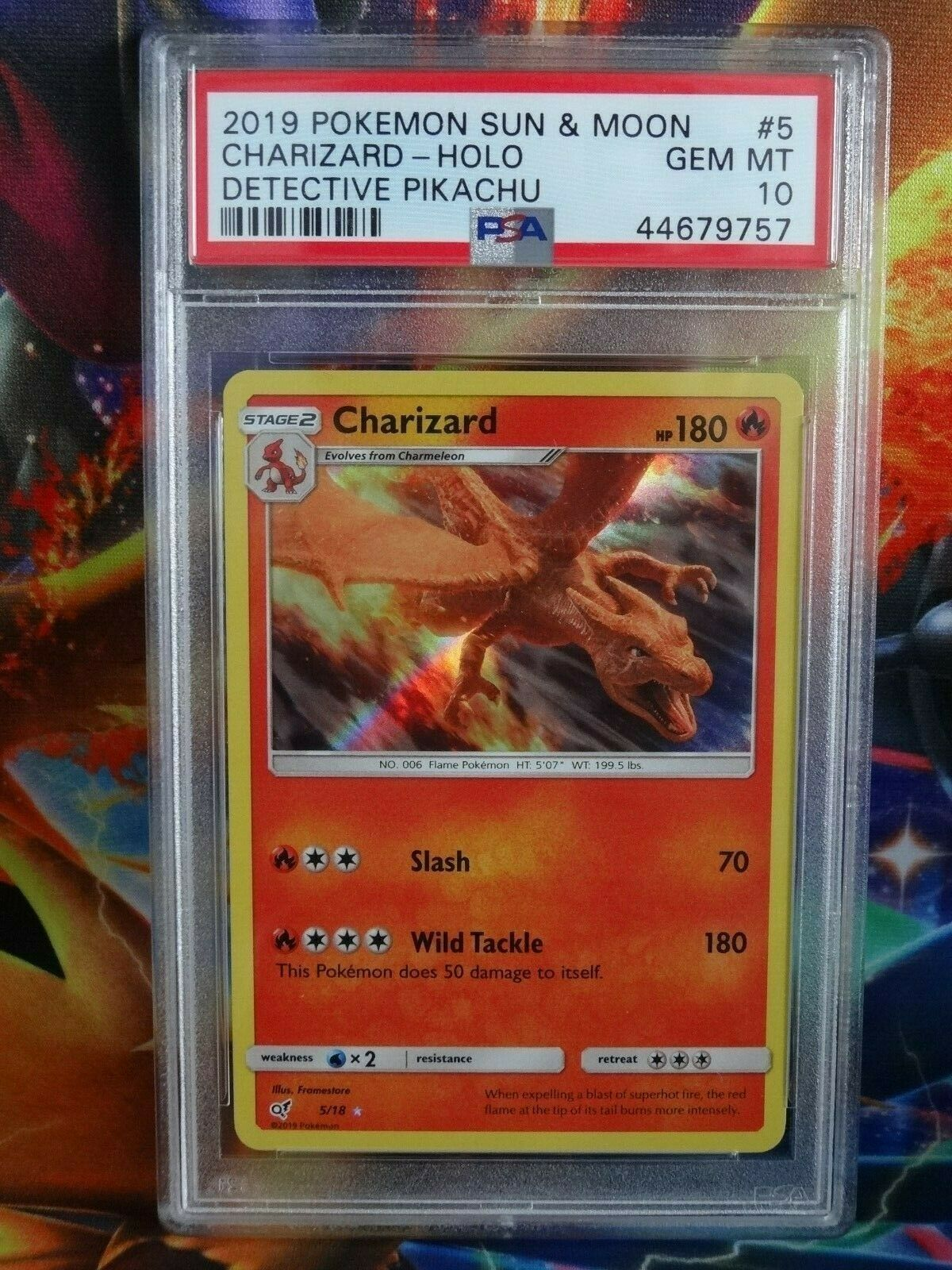 Pokemon Card Holo Charizard 5//18 Detective Pikachu Inc Free Card Deal