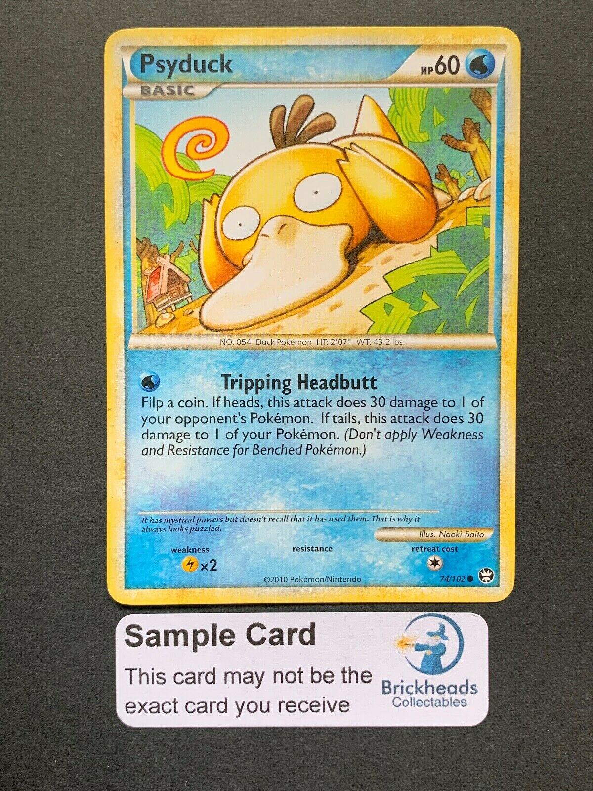 Pokemon Card Psyduck Triumphant 74//102 NEAR MINT Reverse Holo Common TCG!!!!!!!!