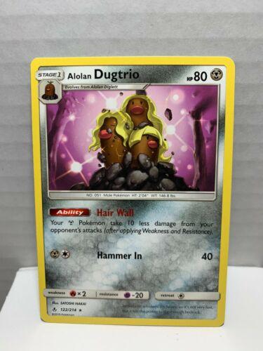 Alolan Dugtrio 122/214 Rare Pokemon Sun and Moon Unbroken Bonds LP
