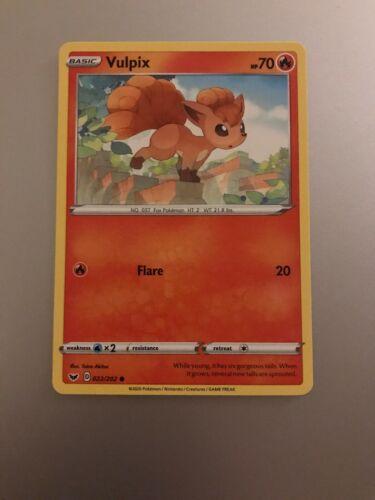 Common Card 022//202 Vulpix Pokemon TCG Sword /& Shield S/&S
