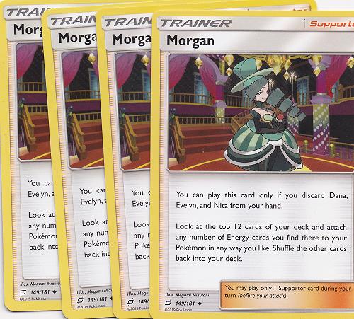 Team Up Pokemon MORGAN 149//181 MINT 4X