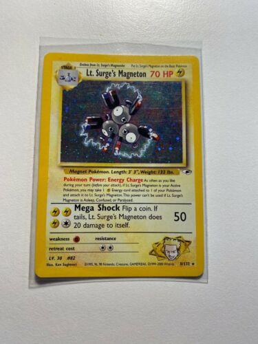 Surge/'s Magneton  8//132 HOLO english EXC. Lt POKEMON TCG