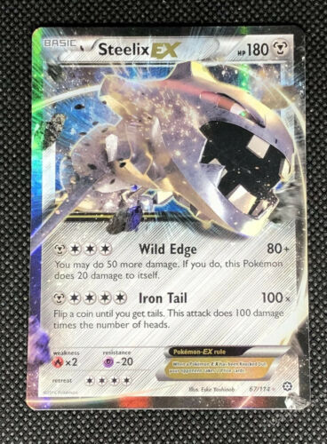 Holo Rare ex NM Pokemon XY Steam Siege 1x Steelix-EX 67//114