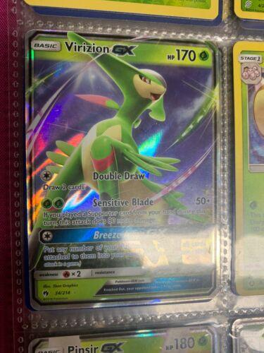 x1 Virizion GX 197//214 Full Art Ultra Rare Pokemon SM8 Lost Thunder M//NM