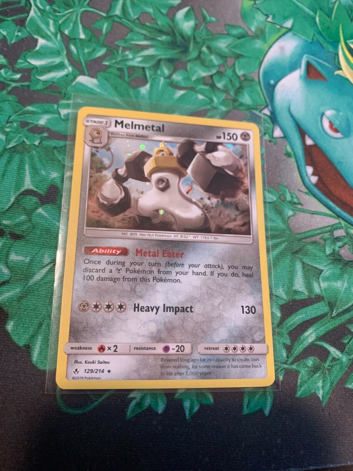 Melmetal [129/214] Holo Rare, SM Unbroken Bonds, Mint/NM, Pokemon TCG