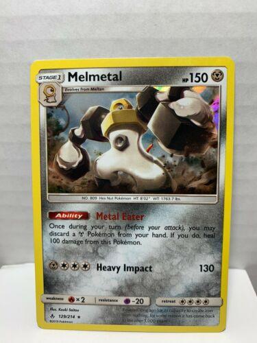 Melmetal 129/214 Holo Rare Pokemon Unbroken Bonds
