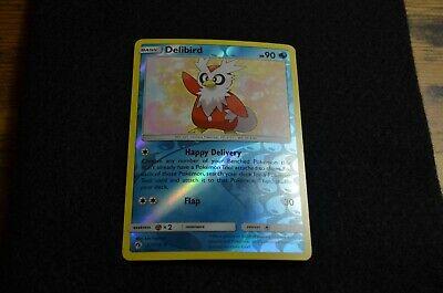Uncommon NM-M Pokemon TCG Lost Thunder 2x Delibird 57//214