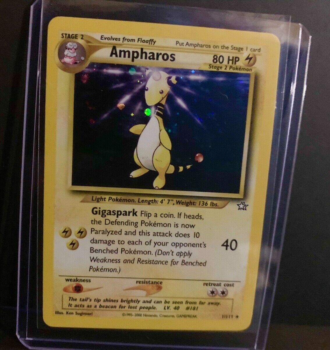 Pokemon JAPANESE NEO Genesis Ampharos 1//111 No 181 Holo Foil Rare #1