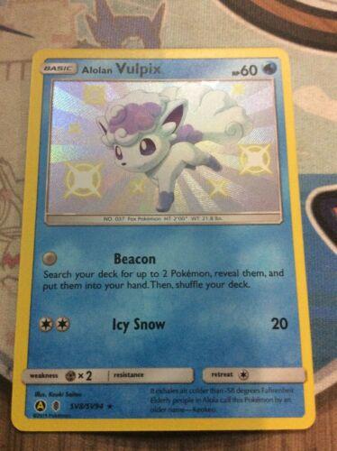 SV8//SV94 Pokemon Card Shiny Alolan Vulpix Hidden Fates NM//Mint