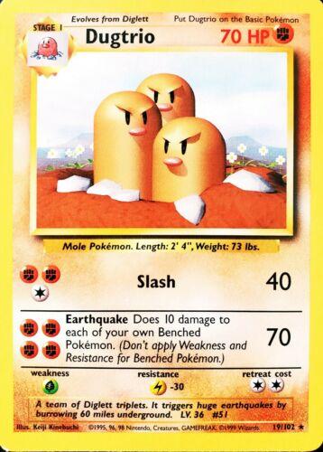 Dugtrio 19//102 Pokemon Card NM//LP