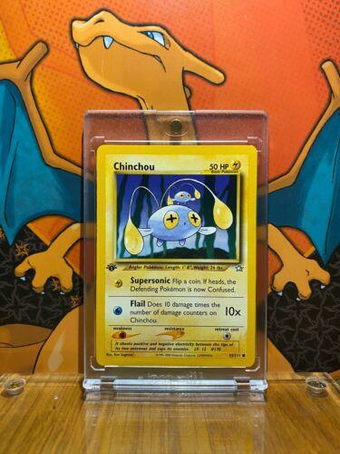Pokemon 1st Ed Neo Genesis Set COMMON Chinchou 55//111 NM//M Condition