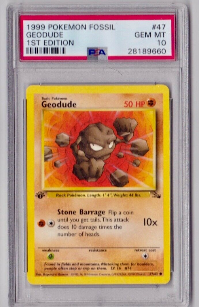 POKEMON GEODUDE 47//62 FOSSIL COMUNE THE REAL/_DEAL SHOP