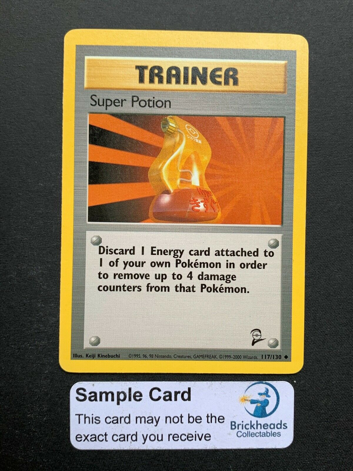 LP Base 2 Pokemon Card $1 Combined Shipping Super Potion 117//130