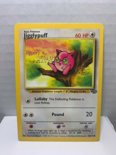 JIGGLYPUFF NM Pokemon Card Common 54//64-1st Edition Jungle